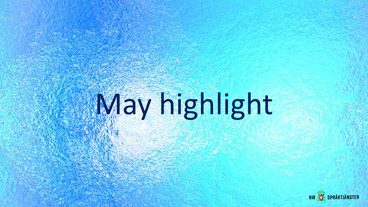 May highlight